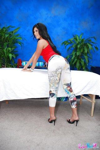 stripping high heels teen