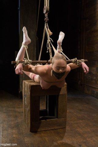 hogtied mature slave