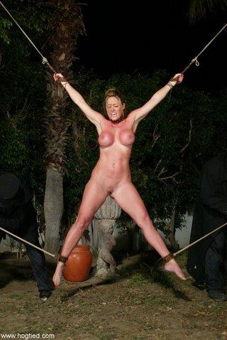 hogtied mature big tits