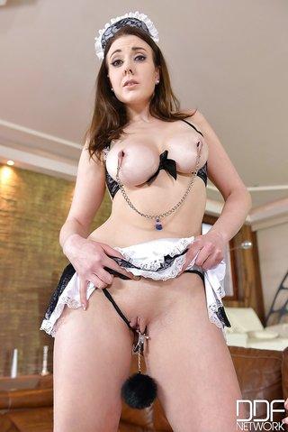 sexy maid bondage