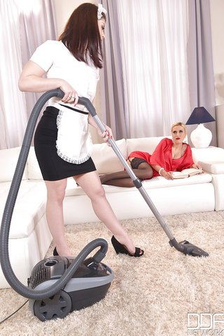 submissive maid lesbian