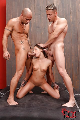 bdsm hungarian threesome
