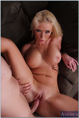 facial blonde wife