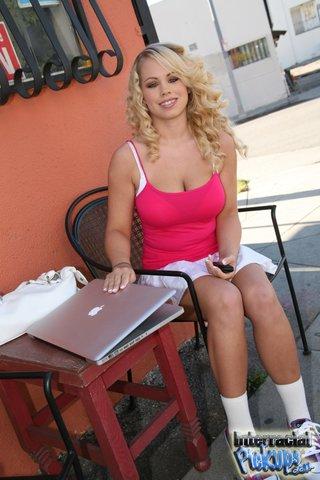 interracial young blonde big