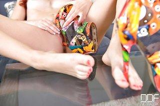 sexy small tits feet