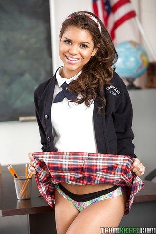american cute schoolgirl