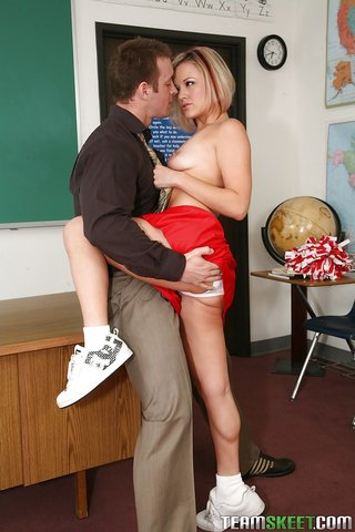blonde innocent high cheerleader