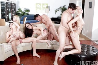 small tits sex orgy