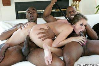 interracial cute threesome