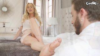 big tits mom massage