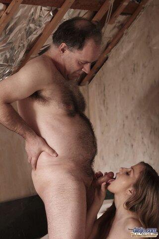 Old Man Licks Ebony Pussy